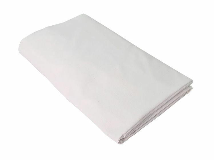 Poza cu Cearceaf alb, KidsDecor, cu elastic patut bebelus 63x127 cm