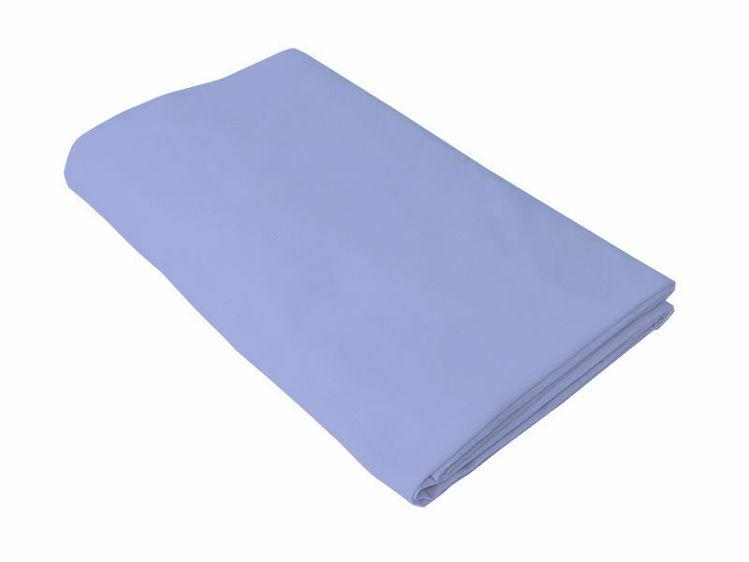 Poza cu Cearceaf albastru, Kidsdecor, cu elastic, patut bebelus 60x107 cm