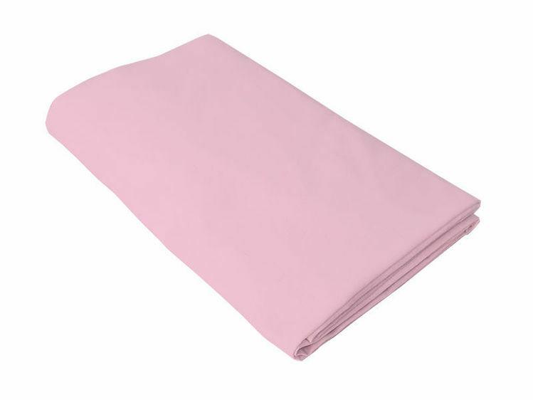 Poza cu Cearceaf roz, KidsDecor, cu elastic, patut bebelus 60x107 cm