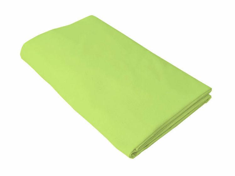 Poza cu Cearceaf verde cu elastic pat tineret 100x200 cm