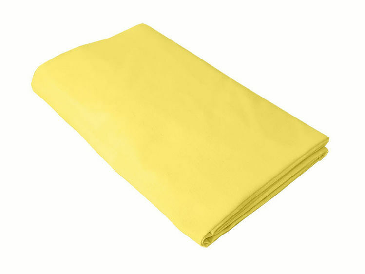Poza cu Cearceaf galben, KidsDecor, cu elastic, pat tineret 120x200 cm