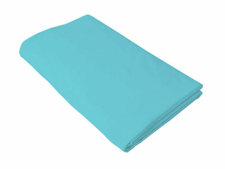 Poza cu Cearceaf turcoaz, KidsDecor, cu elastic, pat tineret 160x200 cm
