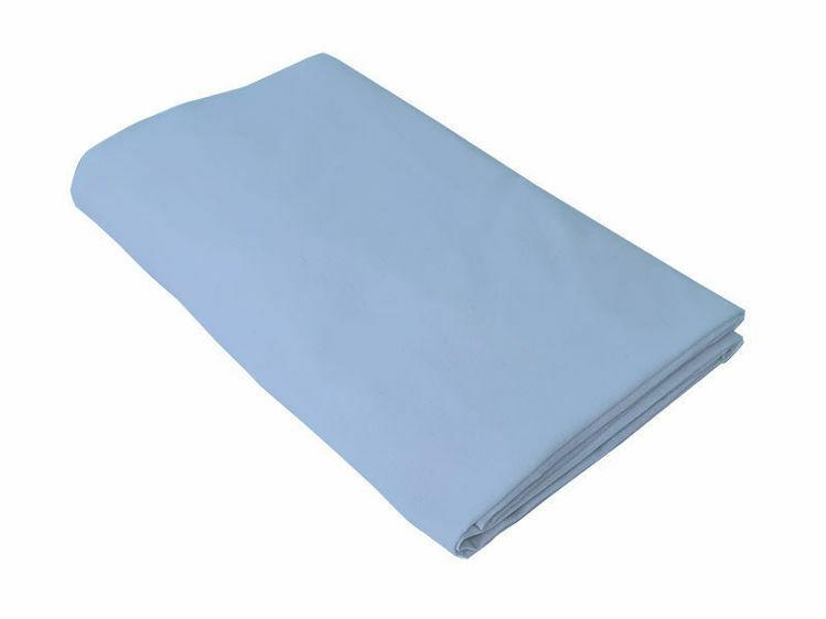 Poza cu Cearceaf albastru, KidsDecor, cu elastic patut bebelus 70x110 cm