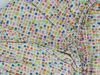 "Poza cu Cearceaf cu elastic patut bebelus 60x85 cm imprimat cu patratele ""Mozaic"""