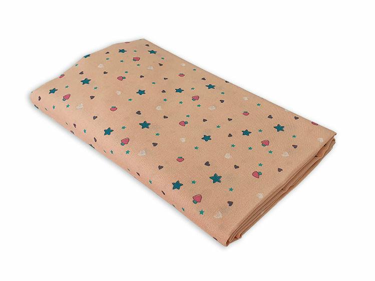 """Poza cu Cearceaf cu elastic, KidsDecor, patut bebelus 70x120 cm imprimat cu stelute """"Lumea stelutelor colorate"""""""