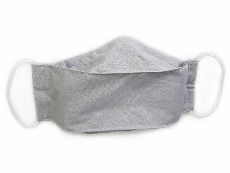 Poza cu Masca faciala din bumbac reutilizabila 3 straturi cu buzunar culoare gri