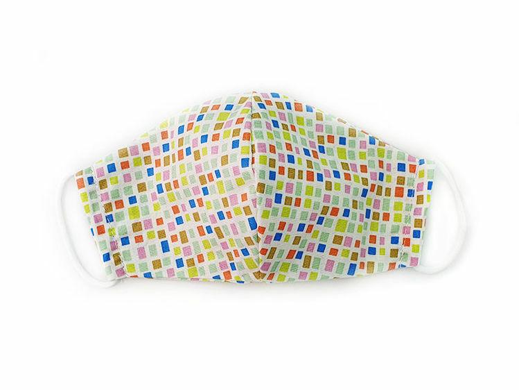 Poza cu Masca faciala pentru copii din bumbac reutilizabila 2 straturi mozaic colorat