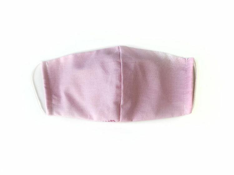 Poza cu Masca faciala pentru copii din bumbac reutilizabila 2 straturi culoare roz