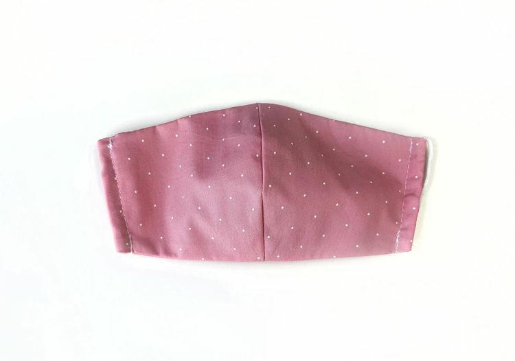 Poza cu Masca faciala pentru copii Pic Pink, din bumbac reutilizabila 2 straturi