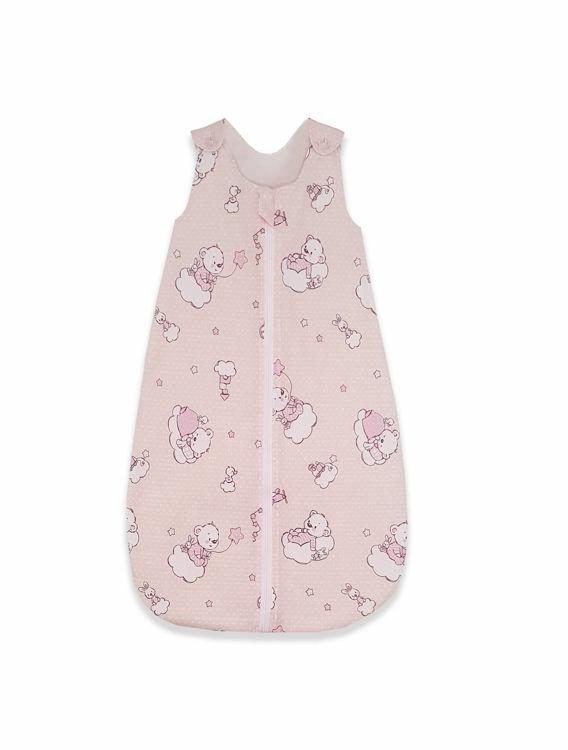 Poza cu Sac de dormit, KidsDecor, iarna 2.5 tog Ursuletul Martinica roz 85 cm