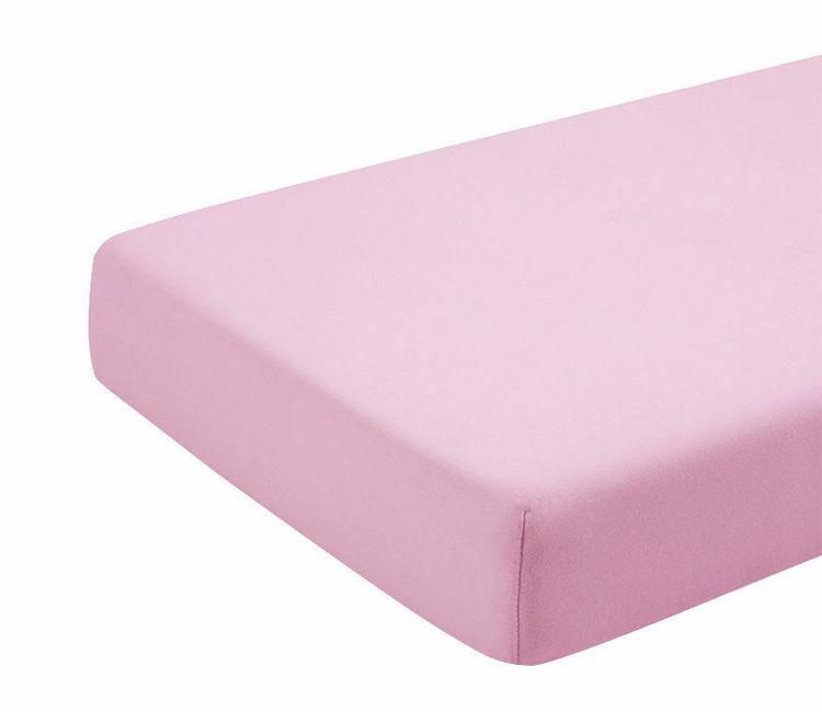 Poza cu Cearceaf roz cu elastic pat tineret 100x200 cm