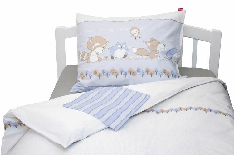 Poza cu Lenjerie pat copii Odette Blue 110x125/40x60 cm
