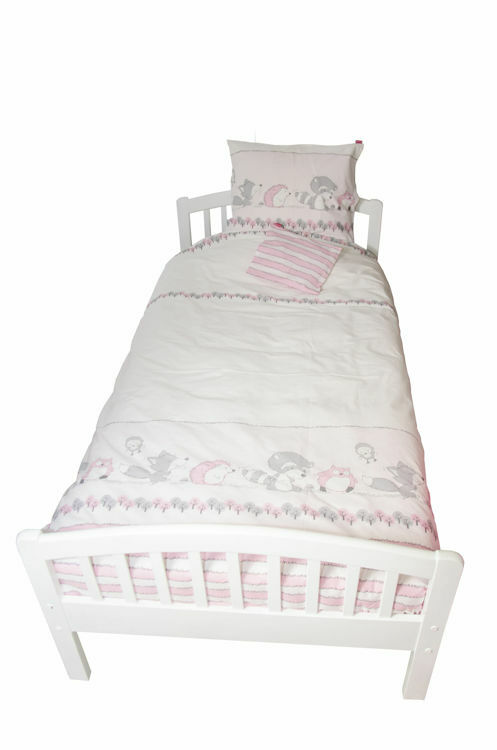 Poza cu Lenjerie pat copii Odette Pink 110x125/40x60 cm
