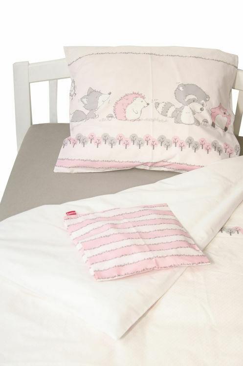 Poza cu Lenjerie pat copii Odette Pink 150x200/50x60 cm