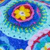 Poza cu Caciula copii Electric flowers din bumbac elastic in strat dublu, cu bordura 6-10 ani