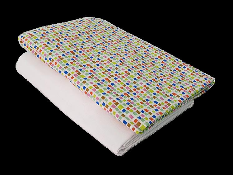 "Poza cu Set cearceafuri ""Mozaic"" patut bebelus 60x107 cm, cu elastic din bumbac"