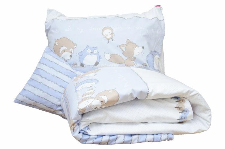 Poza cu Lenjerie pat copii Odette Blue 100x140/40x60 cm