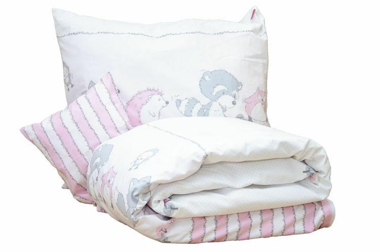 Poza cu Lenjerie pat copii Odette Pink 100x140/40x60 cm