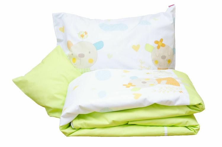 Poza cu Lenjerie pat copii Primavera 150x200/50x60 cm