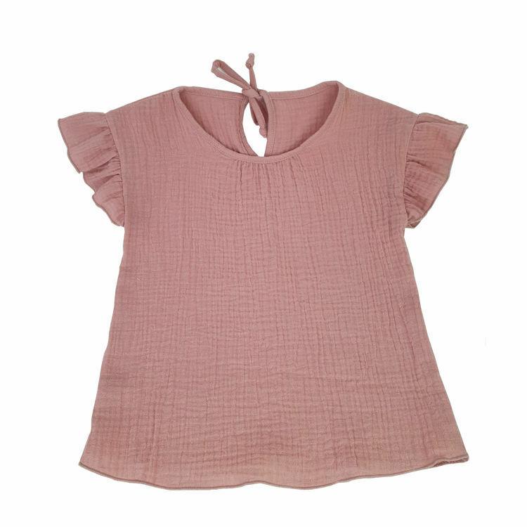 Poza cu Bluza cu maneca scurta si volanase muselina fete Romantic Rose 2-3 ani